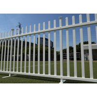 Lightweight Portable Vinyl Fence Kit with Metal Base (42in x 92in)