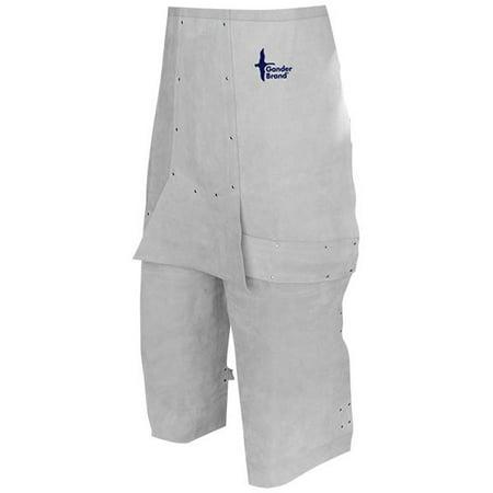 Bob Dale 64-1-64 Welding Apron Leather Split Leg Waist Apron 24x32 Pearl Grey (Pack of 25)