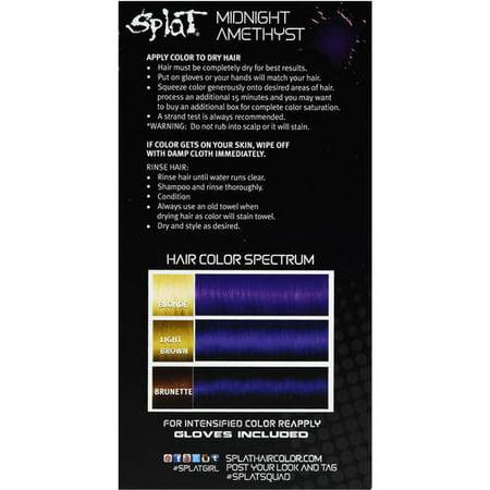Splat Midnight Amethyst Rich Velvet Color Hair Dye Semi Permanent