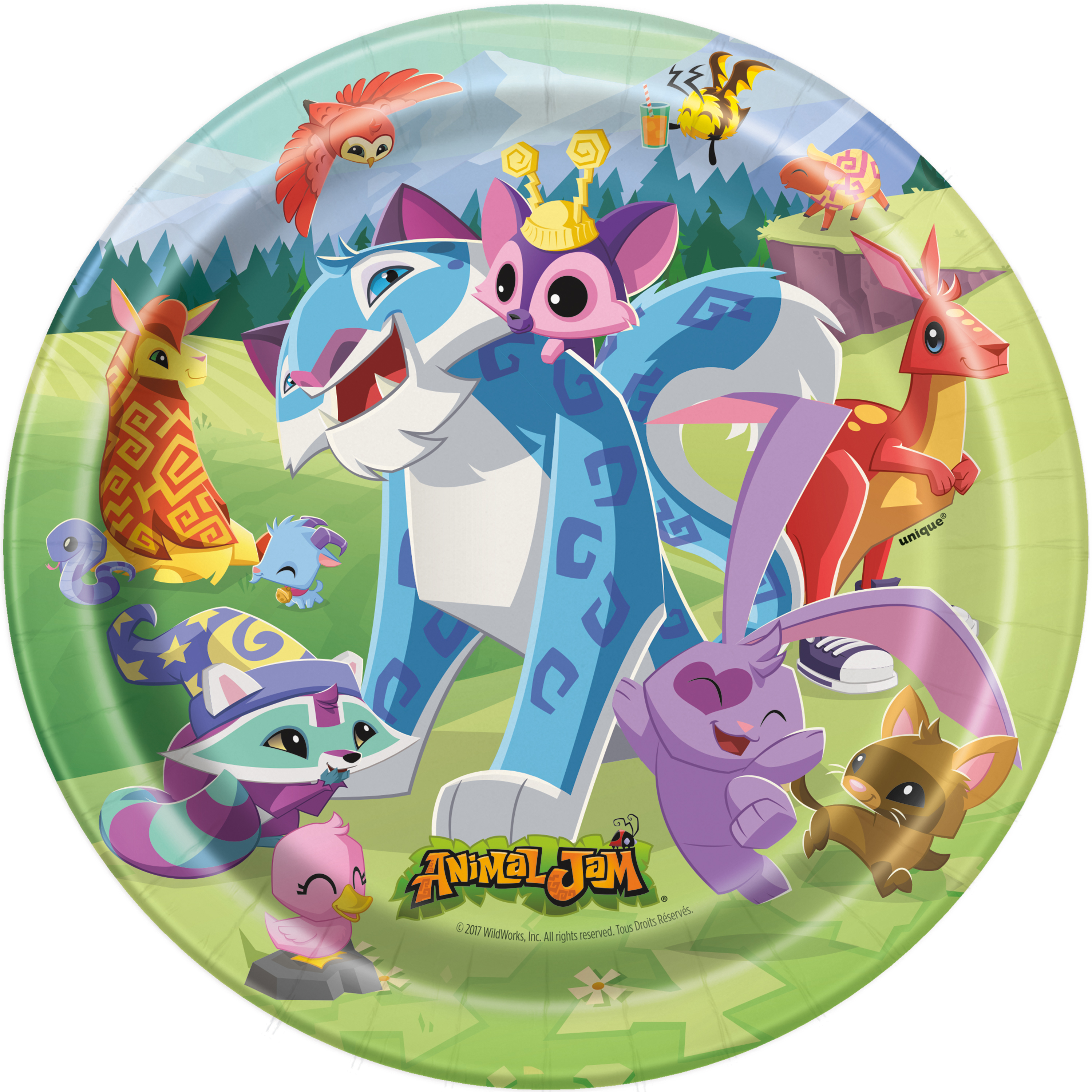 Animal Jam Paper Dessert Plates, 7 in, 8ct