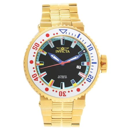 Invicta Men's 27666 Pro Diver Automatic 3 Hand Black, Ocean Blue, Red, Yellow, Blue, White Dial Watch