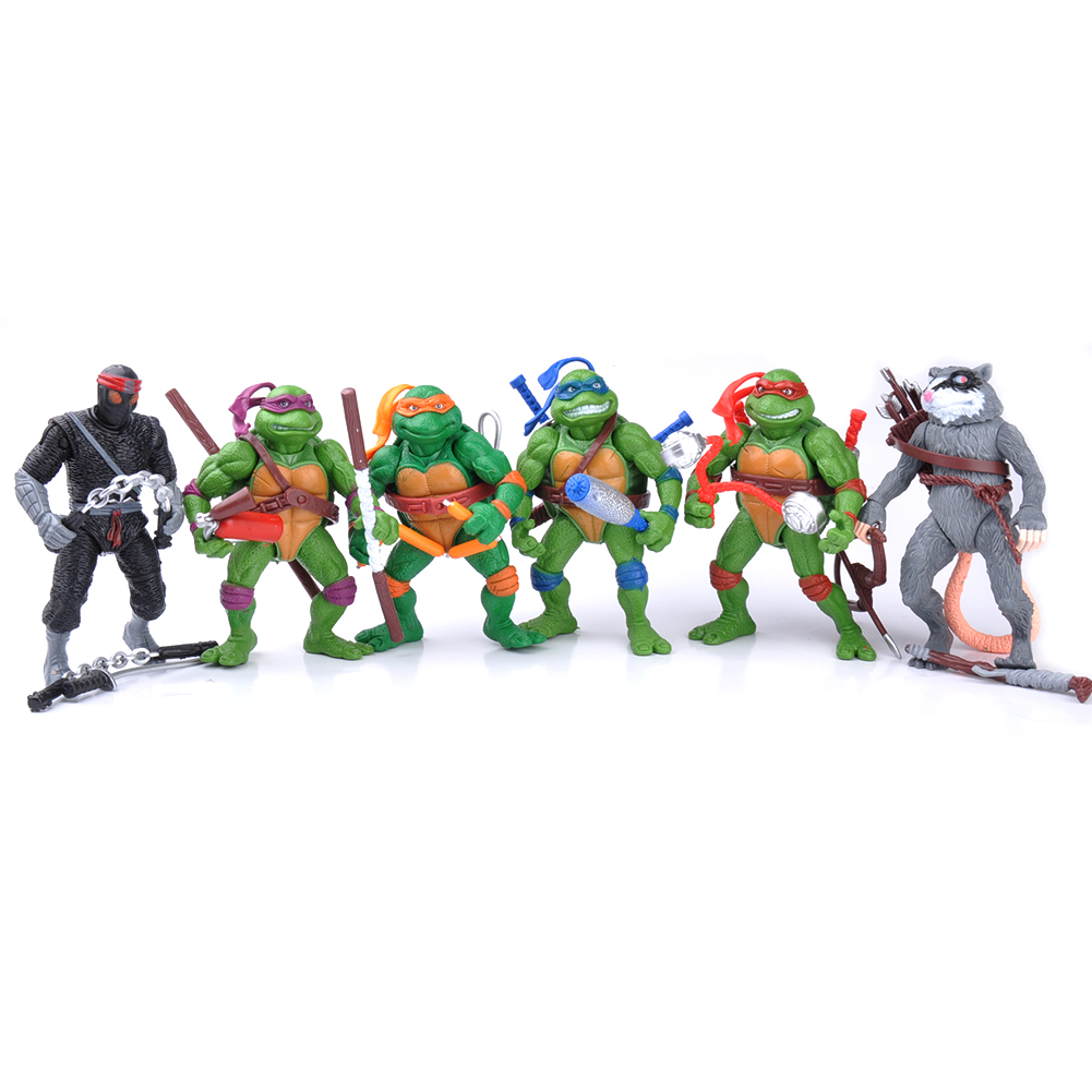 Teenage Mutant Ninja Turtles Action Figures Collectible Figurines (6 Piece), 12cm... by M.A.K