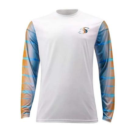 Mens Salty Scales Marlin Medium Fishing LS Shirt Dri-Fit UPF 30 (Marlin 30 30 Stock)