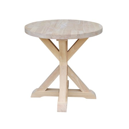 Sierra Round End Table - Unfinished