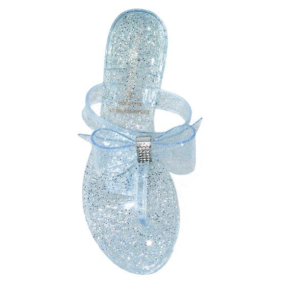 8537f6737056 Wild Diva - Wild Diva Women Jelly Flat Bow Sandals Plastic Flip Flops Bling  Rhinestone JOANIE-79 Pink 9 - Walmart.com
