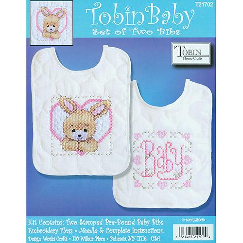 Tobin Bedtime Prayer Boy Bib Pair Stamped Cross Stitch Kit