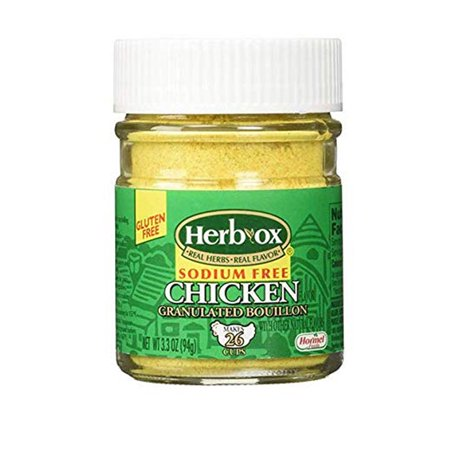 Herb Ox Sodium-Free Chicken Granulated Bouillon, 3.3 Ounce (2 jars)