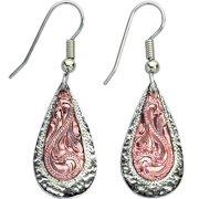 Bar V Western Womens Earrings Engraved Hammered Dangle 311-365