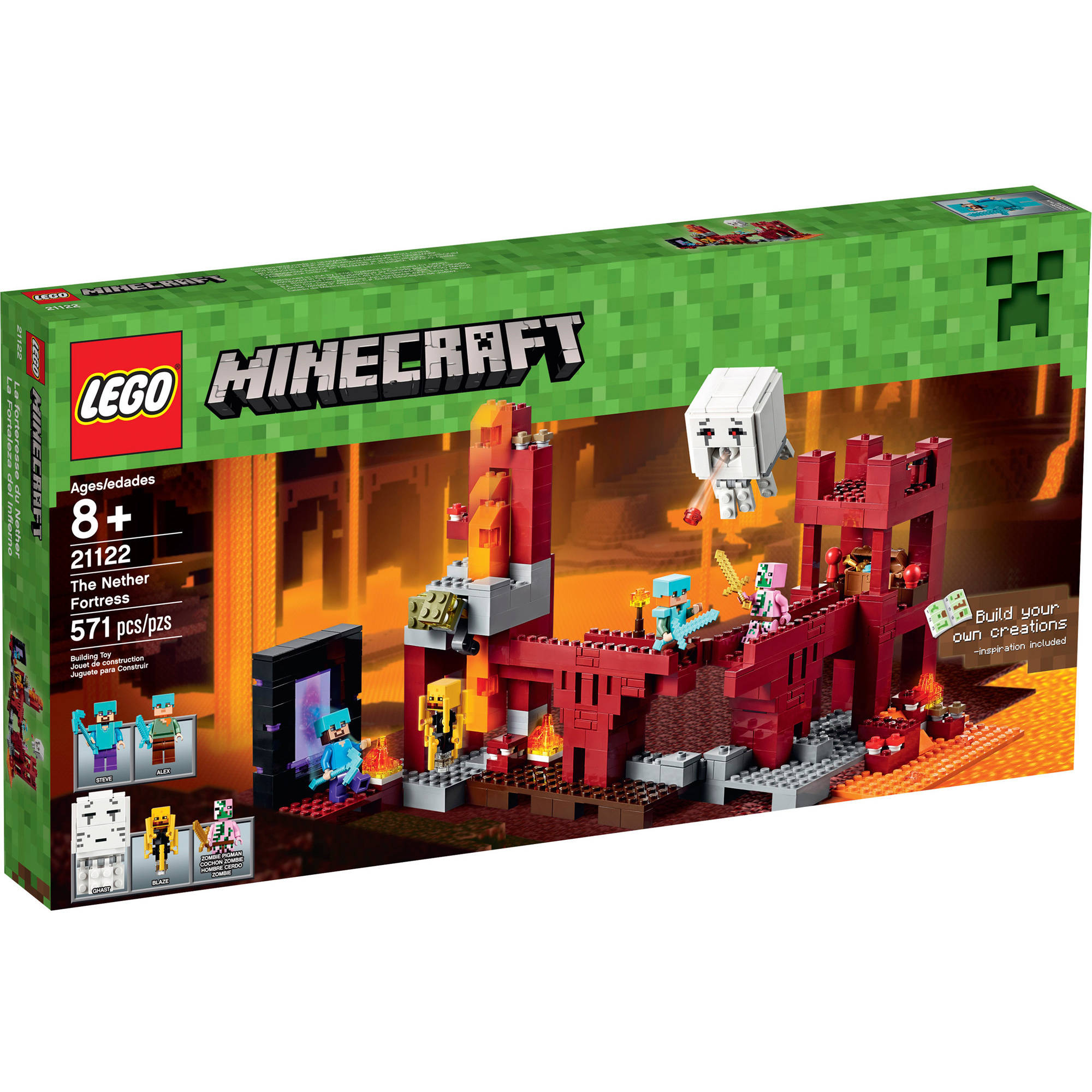 Lego Minecraft The Nether Fortress, 21122 by LEGO Systems, Inc.