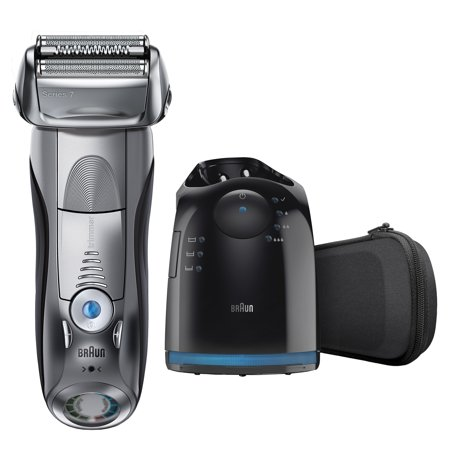 Braun Series 7 790cc Men's Electric Foil Shaver, Rechargeable and Cordless Razor with Clean & Charge (Best Braun Shaver For Sensitive Skin)