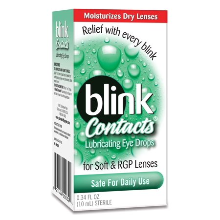 Blink Contacts Lubricating Eye Drops for Soft & RGP Lenses, 0.34 FL - Halloween Contact Lenses Amazon