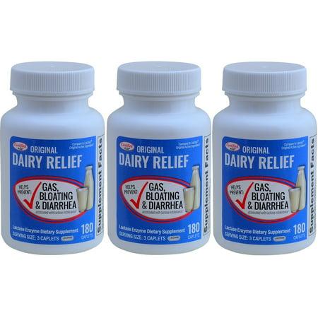 Original Caplets - Lactase Enzyme 540 Caplets Generic Lactaid Original Strength