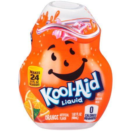 (12 Pack) Kool-Aid Orange Liquid Drink Mix, 1.62 fl oz Bottle
