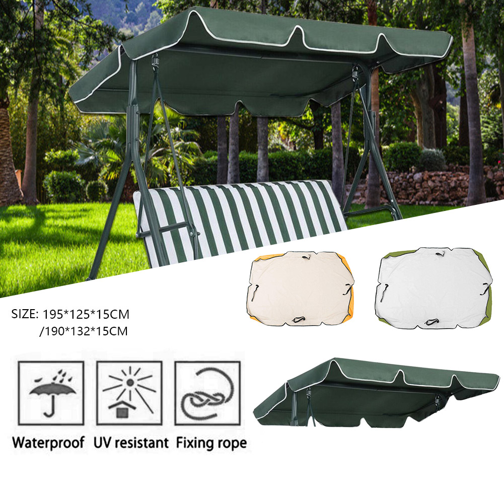 Swing Canopy Replacement, Waterproof 2 3 Seater Patio ...