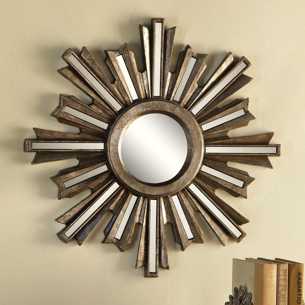 Sunburst Wall Mirror gold deco sunburst wall mirror - walmart