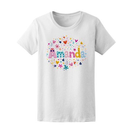 Amanda Name With A Cool Pattern Tee Women's -Image by Shutterstock