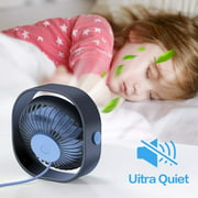 Personal Portable Fan, Desk Fan with 3 Speeds, Powered by USB, Portable Small Stroller Fan for Baby,Car Seat, Gym,Travel