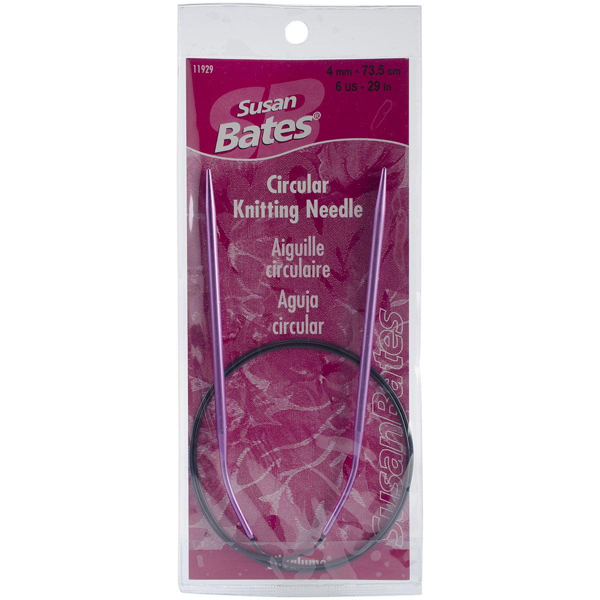 "Susan Bates Silvalume Circular Knitting Needles 29""-Size 6/4mm"