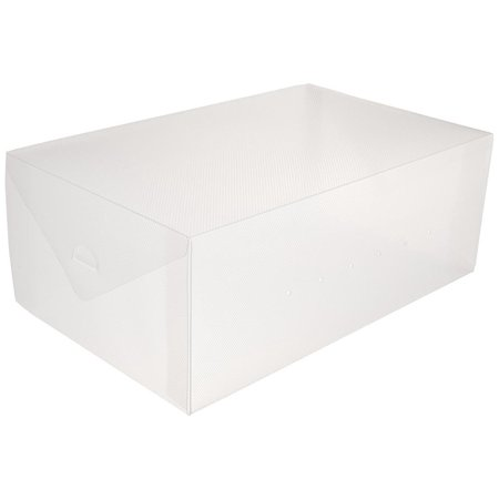 Greenco Clear Flip-Top Foldable Shoe Storage Boxes-10 Pack-