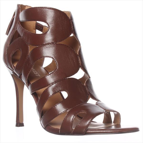 Womens Nine West Flora Dress Sandals - Dark Brown