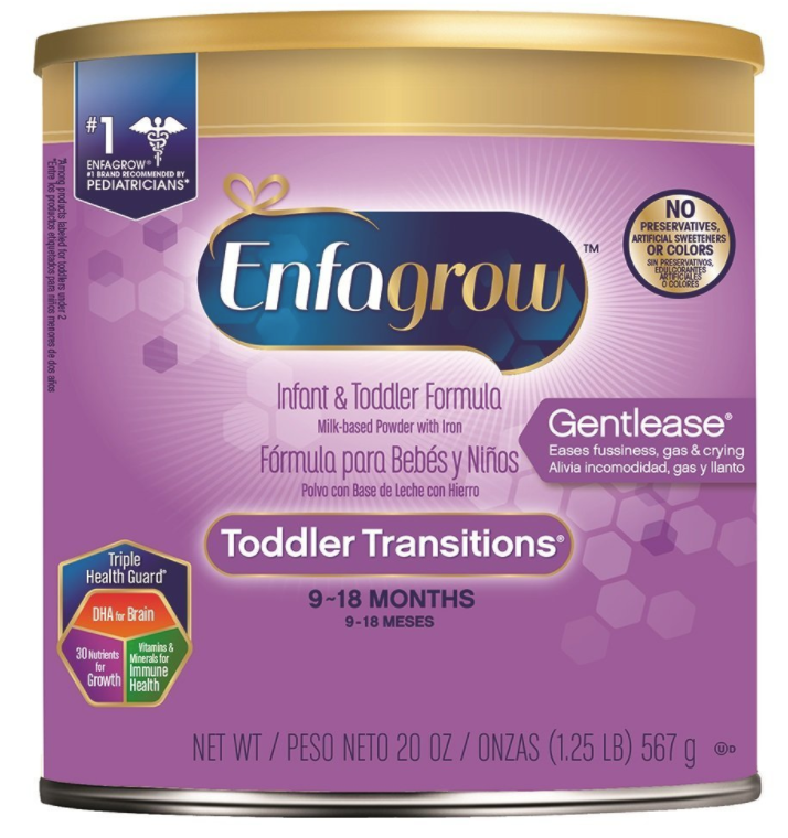 Enfagrow Toddler Transitions Gentlease Formula, 20 oz Can