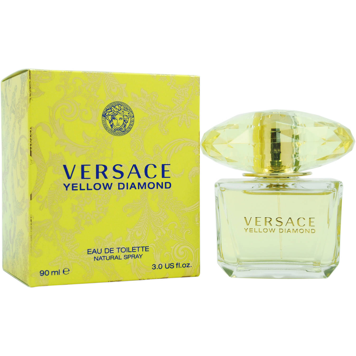 Versace Yellow Diamond for Women Eau de Toilette, 3 oz