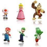 GLtrendy Toys New Super Mario Bros 1.5-2.75´´ Figures Set 6 pcs