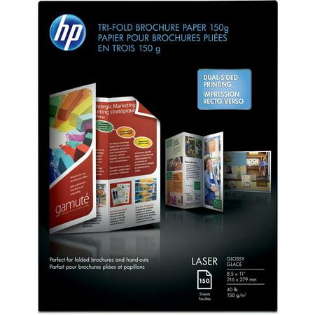 HP, HEWQ6612A, Trifold Brochure Paper, 150 / Pack, (Hp Tri Fold Brochure Paper)