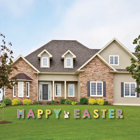 Hippity Hoppity - Yard Sign Outdoor Lawn Decorations Easter Bunny Party Yard Signs - Happy Easter