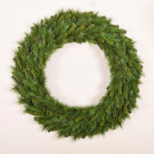 Santa's Workshop Mixed Needle Wreath Christmas Tree with 100 Light Unlit