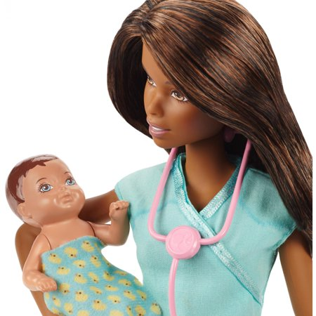 Barbie Careers Baby Doctor African-American Doll and Playset