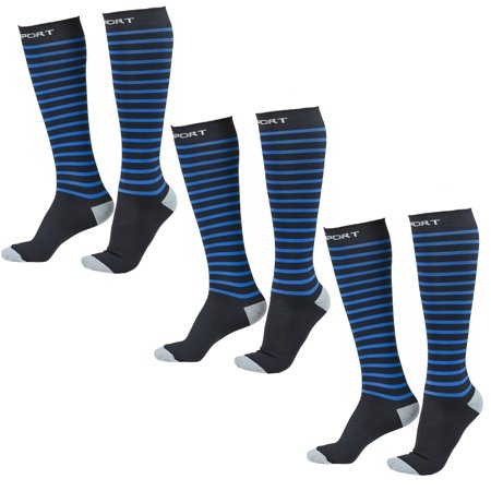 Abco Tech (3 Pairs) Sports Compression Socks Women Men Running Basketball Cycling Tall Athletic Socks (Nike Compression Basketball Socks)