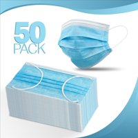 50-pcs, Disposable Face Mask 3-layer Ear Loop