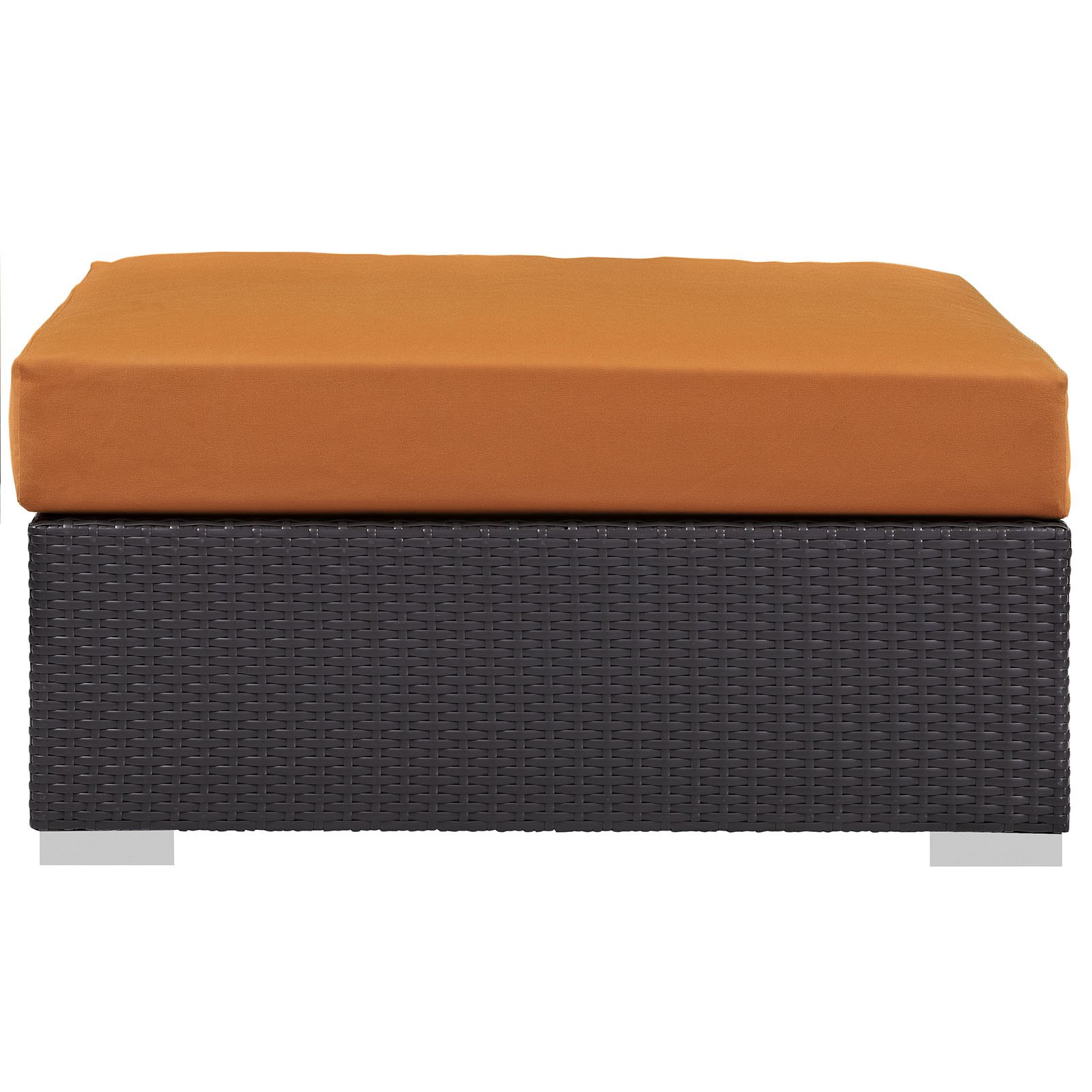 Modway Convene Outdoor Patio Large Square Ottoman, Multiple Colors