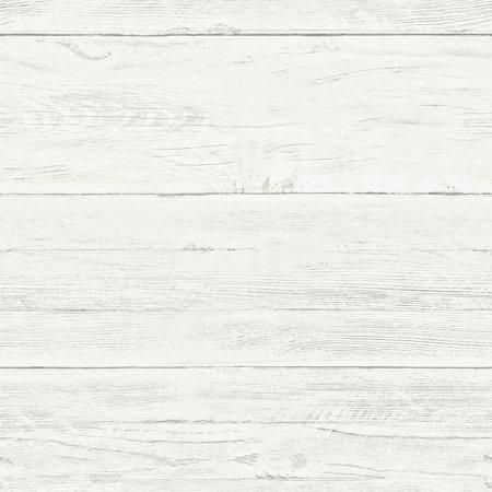 Brewster Adair White Shiplap Wallpaper