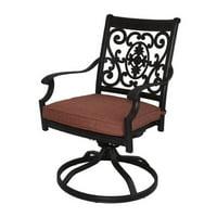 Darlee St. Cruz Swivel Patio Dining Chair in Antique Bronze (Set of 2)