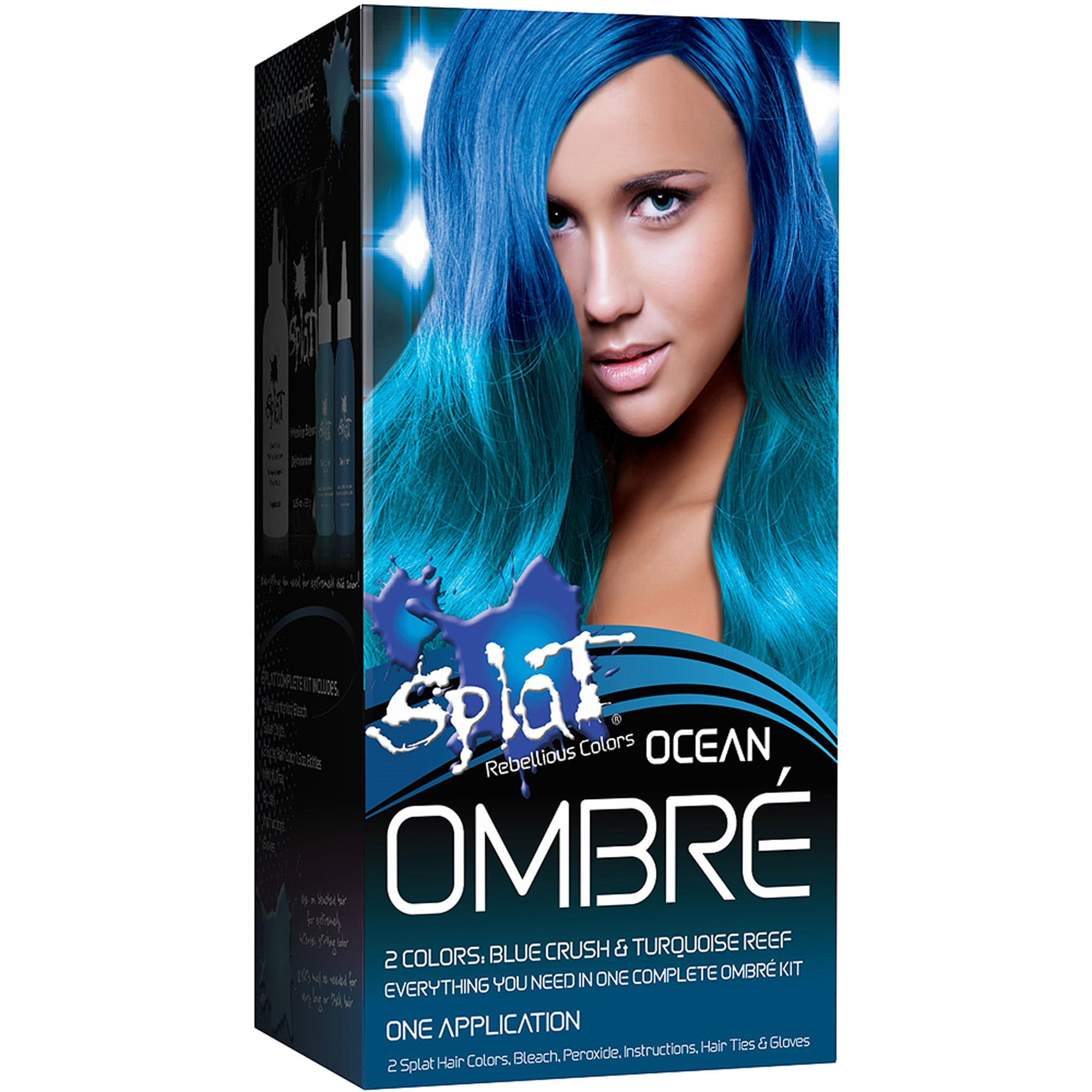 Splat Rebellious Colors Ombre Semi Perm Hair Color Kit Fire Color