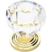 """Liberty 1.25"""" Acrylic Faceted Knob, Available in Multiple Colors"""