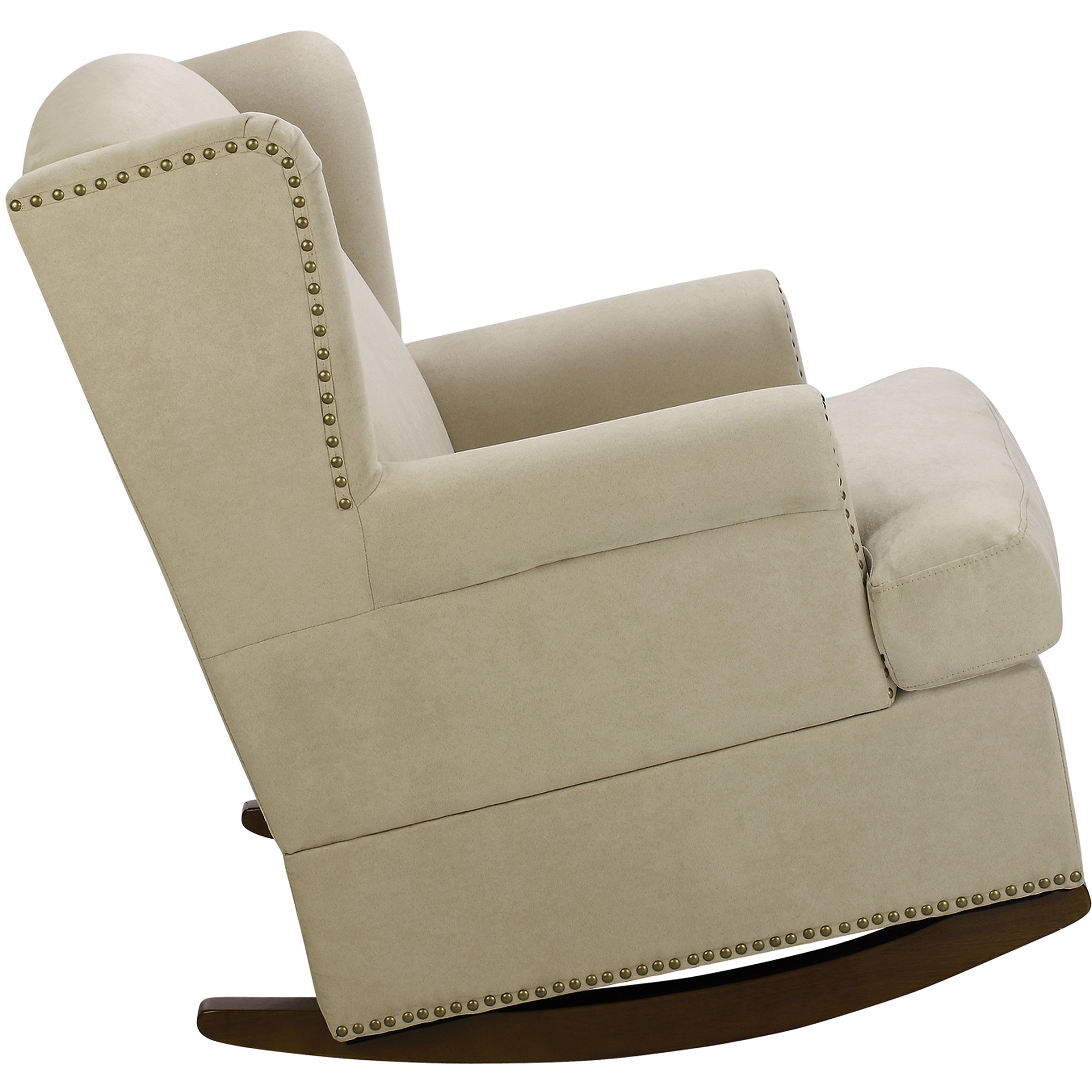 Baby Relax Harlow Wingback Rocker with Nailheads Walmart
