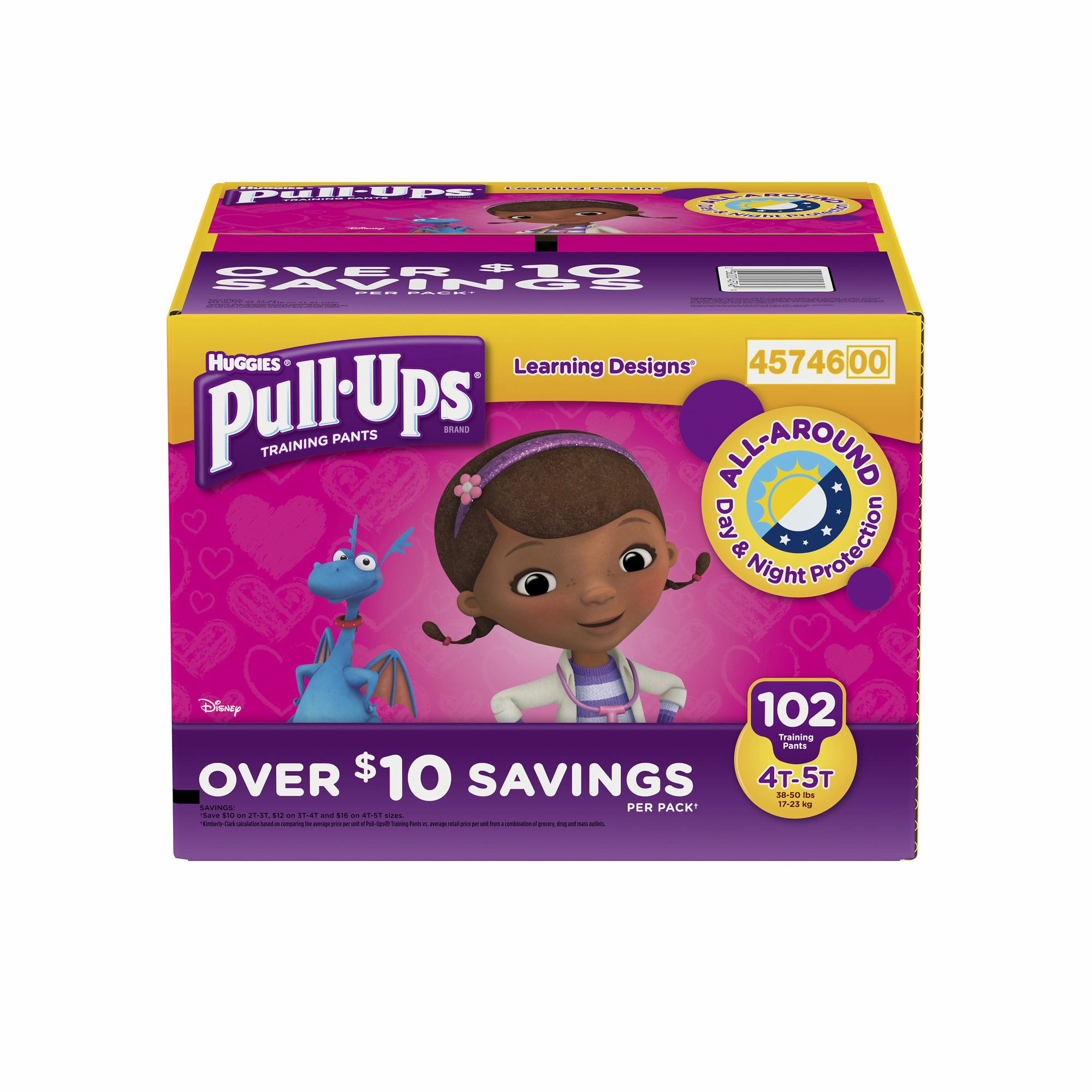Pull-Ups Learning Designs Training Pants for Girls- Size 4T-5T - Qty 102 pieces each - Branded Diapers at a wholesale price - Soft & Comfortable for babies