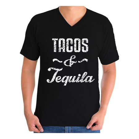 Awkward Styles Men's Tacos & Tequila Graphic V-neck T-shirt Tops Taco Mexican Drinking Party Gift](Tequila Teen)