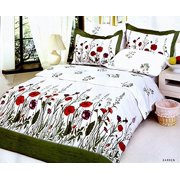 Full/Queen Size Duvet Cover Sheets Set, Garden
