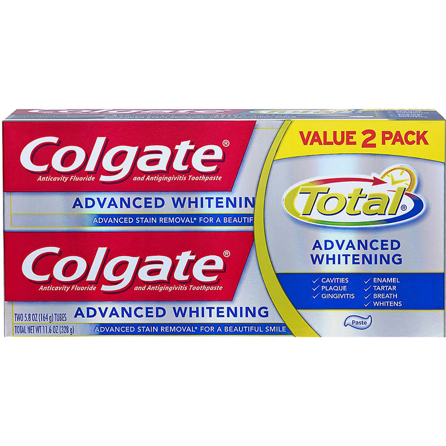 Colgate Total Advanced Whitening Toothpaste Value 2 Pack, 11.6 oz, 2 ct