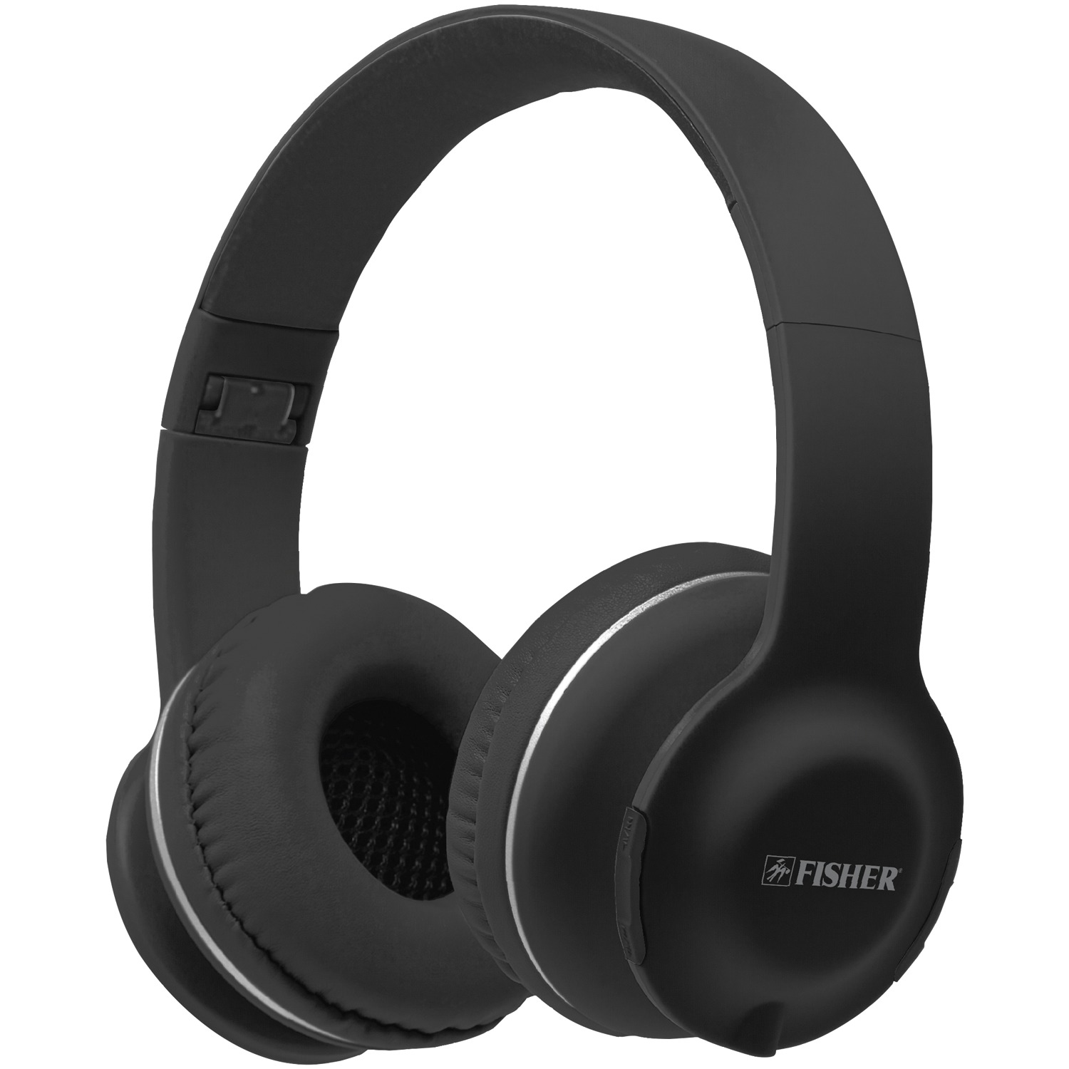 fisher fbhp440k lounge sound bluetooth over ear headphones with microphone black. Black Bedroom Furniture Sets. Home Design Ideas