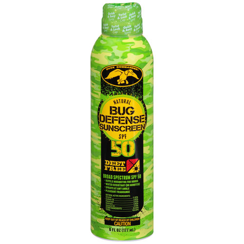 Duck Commander Natural Bug Defense Sunscreen, SPF 50, 6 fl oz