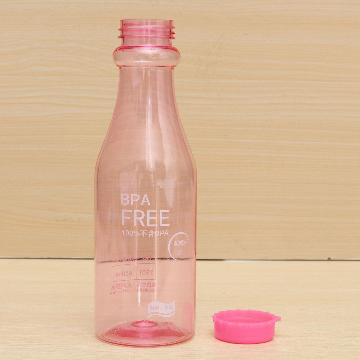 Leak-proof 650ml BPA Free Water Bottle For School Hiking Fishing Cycling Bicycle Bike Sports