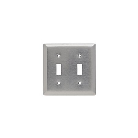 Seymour Toggle (Pass and Seymour SL2 Magnetic Stainless Steel Two Gang Toggle Light Switch Wall Plate)