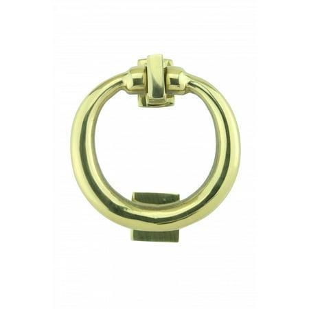Solid Brass Ring Door Knocker 4 1/2 inch. H x 4 inch. W