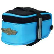 Moto Racer Seat Saddle Up Pouch, Black/Blue