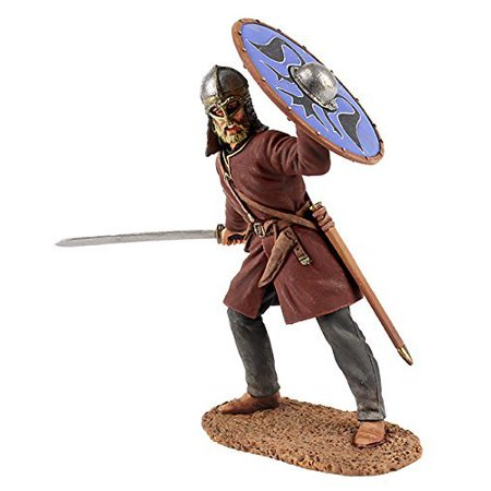 W. Britain 62103 Viking Wearing Gjermundbu Helmet Swinging Sword, 1:30th scale, 54mm, approx. 2.5 inches tall By W